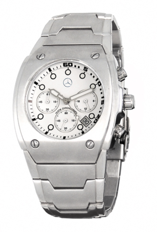 Reloj de acero grabado con tampografía para Mercedes Benz