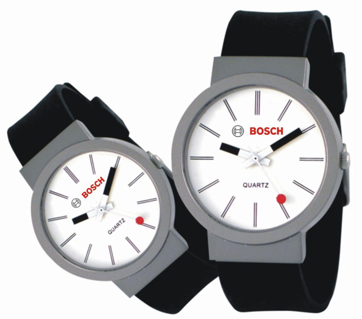 Reloj grabado con tampografía para Bosch