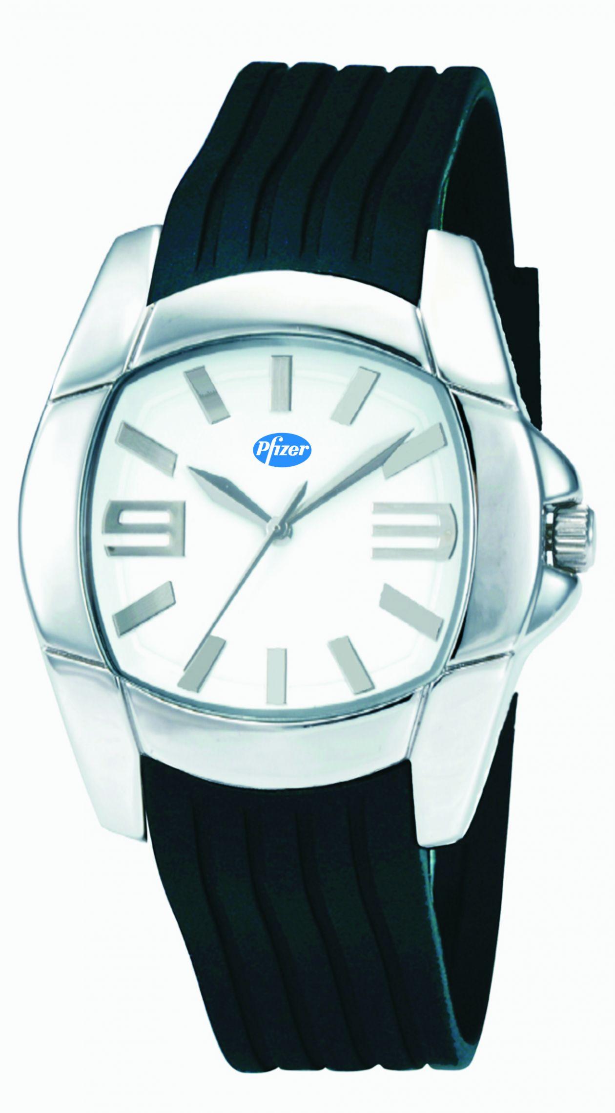 Pfizer reloj gabado por tampografía