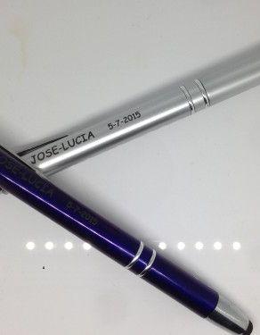 Grabación bolígrafo de metal con máquina láser YAG