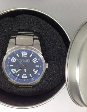 Reloj coronel tapioca con grabación en esfera a tampografía y grabación láser caja de aluminio