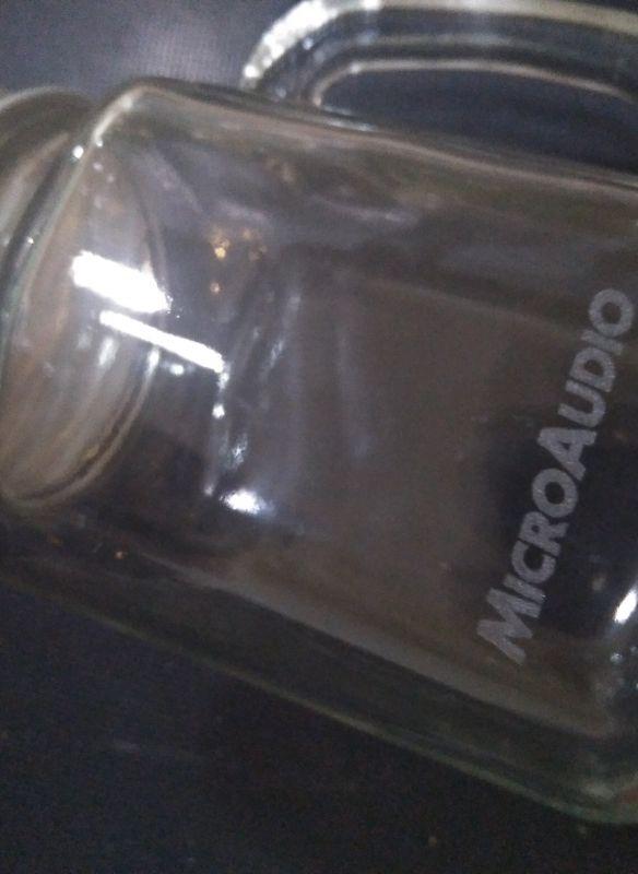 grabación de vaso de cristal para microaudio regalo publicitario