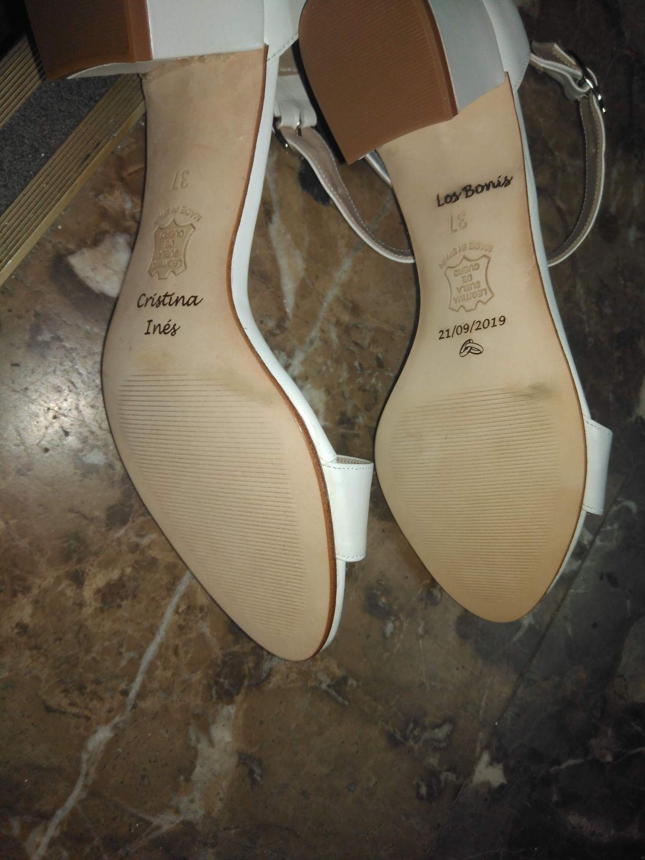 Grabación zapatos para bodas personalizados, regalos boda, grabación con laser cuero