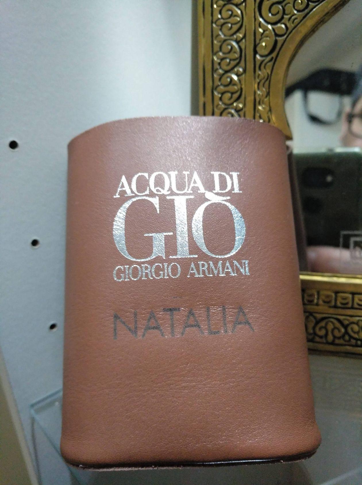 grabación de piel con marcaje personalizado funda cuero GA