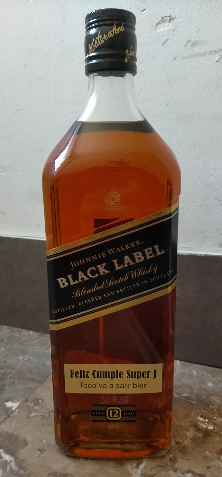 grabajo laser botella de cristal de whisky