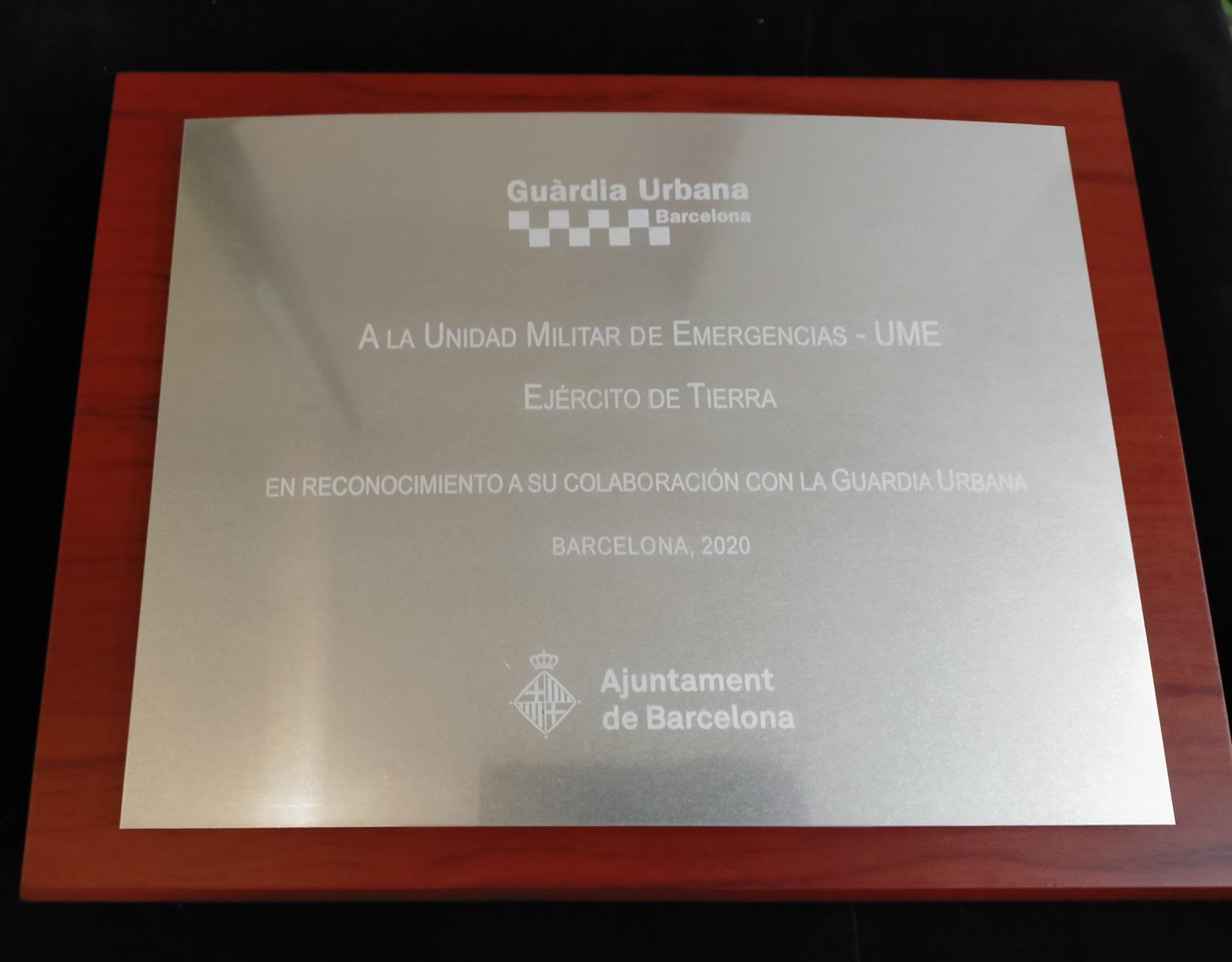 Grabación laser metal placa conmemorativa